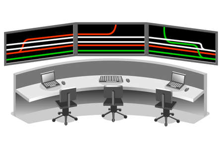 desk clerk: Control center