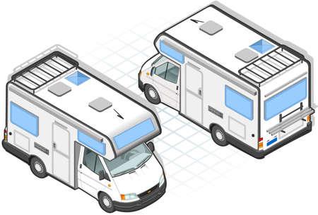 Isometric caravan Stock Vector - 9935202