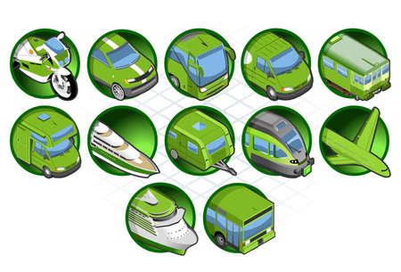 Isometric green icon Vector