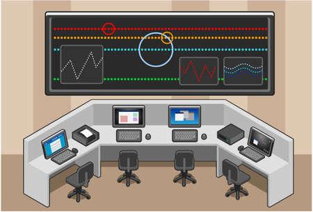 Control center Stock Vector - 9935209