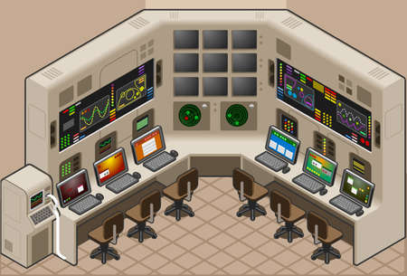 desk clerk: Isometric Control Panel