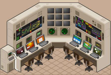 control panel: Pannello di controllo isometrico Vettoriali