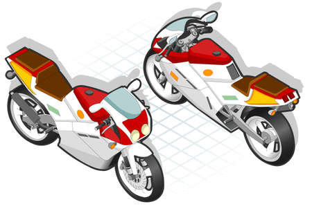 guiding: Isometric Motorcycle