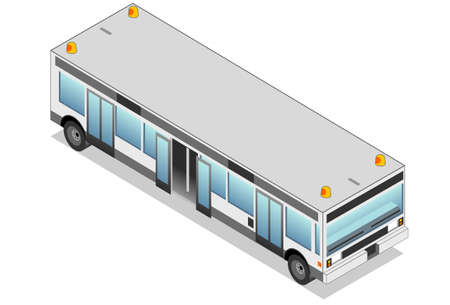 isometric airport bus
