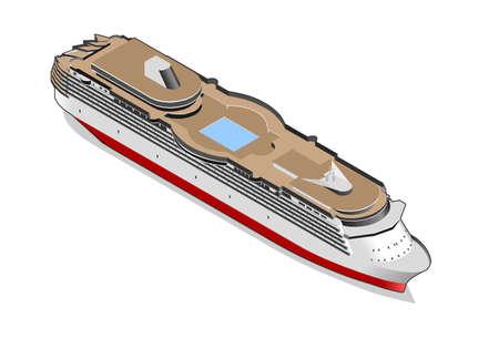 overseas: isometric ship Illustration