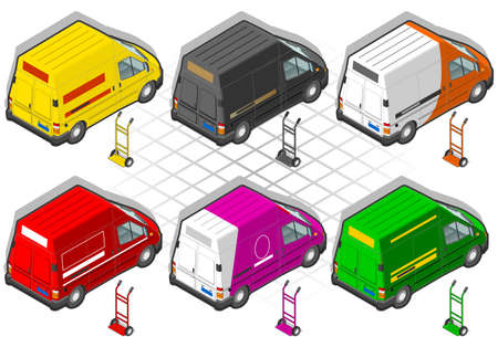 rear wheel: isometric delivery van