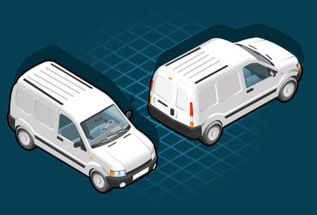 isometric of white in two positions Vector