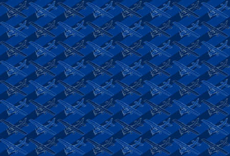 bomber plane: detailed illustration of a isometric pattern of a little plane.