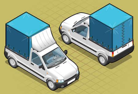 pick up: Isom�trique van chercher dans deux positions Illustration