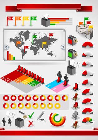urne: elementi del set infographic