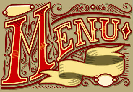 western food: vintage graphic element for menu Illustration
