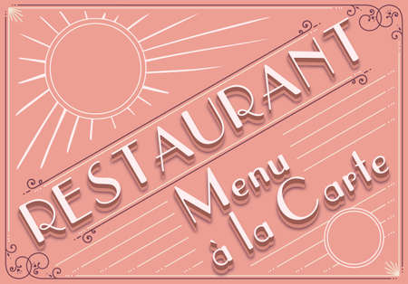 Detailed illustration of a vintage graphic element for restaurant menu Vector