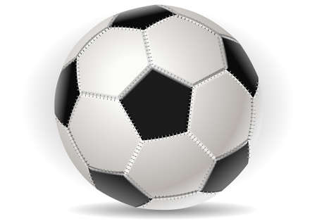 ballsport: Detailed illustration of a Soccer ball isolated on withe Illustration