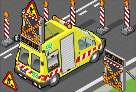 roadside assistance: isometric roadside assistance truck