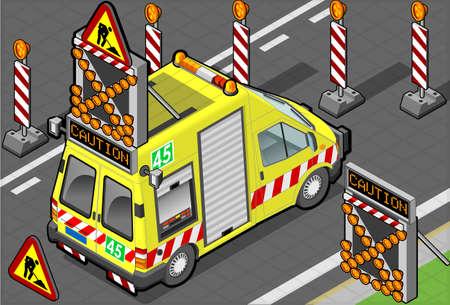 isometric roadside assistance truck Stock Vector - 17883109