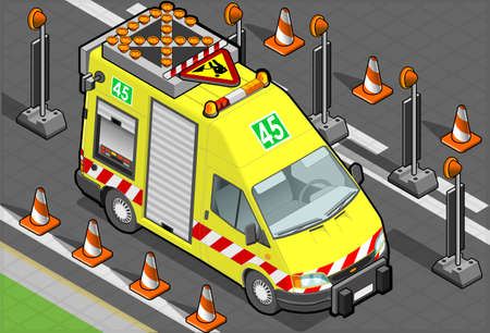 roadside assistance: isometric roadside assistance truck