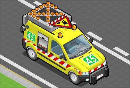 isometric roadside assistance van Stock Vector - 18144173