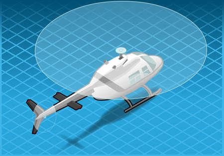 coast guard: helic�ptero blanco isom�trico en vuelo en la vista trasera
