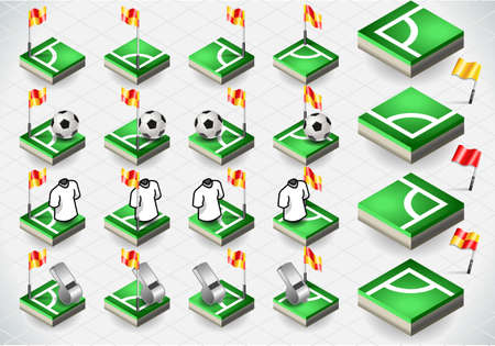 ballsport: Detailed illustration of a Set of Soccer Corner and Icons