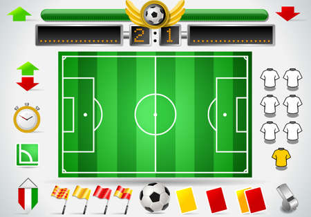 Info Graphic Set of Soccer Field and Icons Stock Vector - 18569801