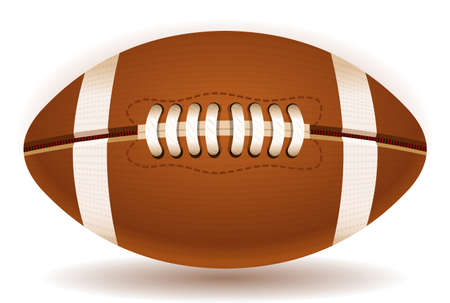 Detailed illustration of a American Football ball isolated on withe Stock Vector - 18569803