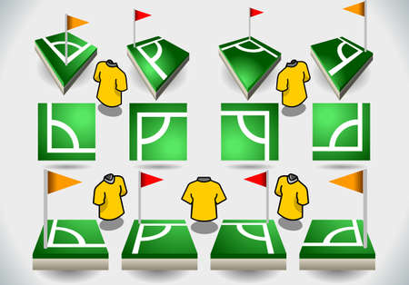 Detailed illustration of a Set of Soccer Corner and Icons Stock Vector - 19049492