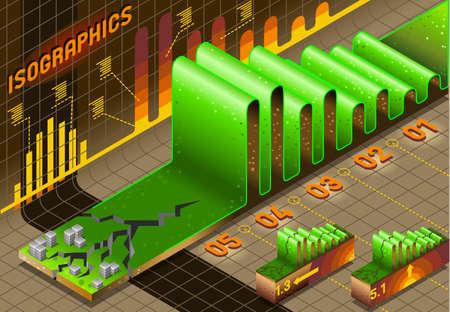 calamiteit: Gedetailleerde illustratie van een Info Grafische Reeks elementen met Earthquake en Stad Stock Illustratie