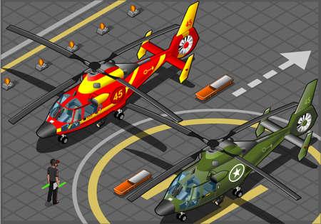 coast guard: Emergencia isom�trica y helic�pteros militares en la vista frontal
