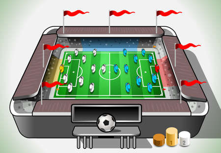 Detailed illustration of a Info Graphic Stadium with Player Placeholder Stock Vector - 22252983