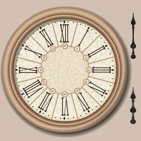Gedetailleerde illustratie van een Quadrant van Victoriaanse Klok met lancetten