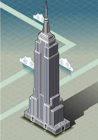 empire state building: Detailed illustration of a Isometric Empire State Building Illustration