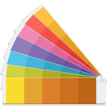 color swatch book: Detailed illustration of a Pantone Palette