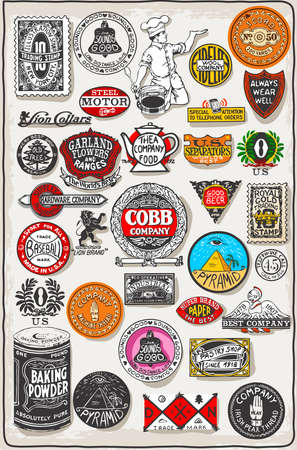 Detailed illustration of a Vintage California Label Plaque, Black and Gold Illustration