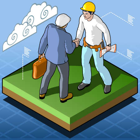 certification: Isometric Infographic Building Certification