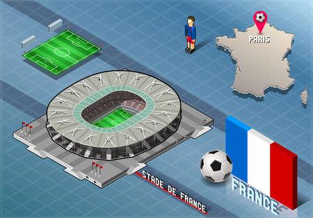 Isometrische Soccer Stadium - Stadie de France Paris Frankreich Standard-Bild - 38610744