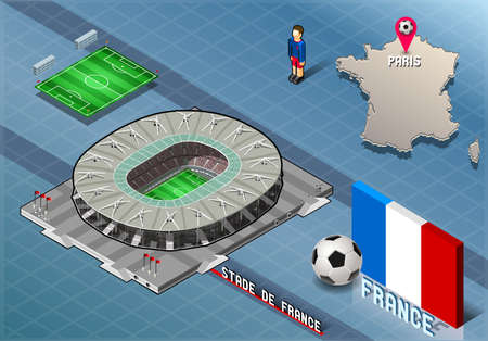 Isometric Soccer Stadium - Stadie de France Paris France