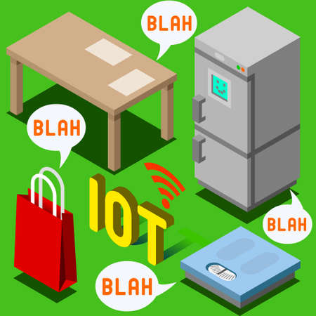 rfid: Internet of Things Isometric Representation - The Chatter of Things - IoT Domotics