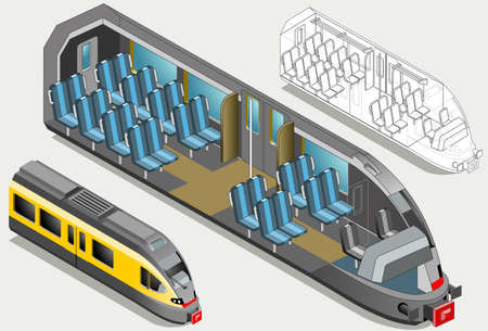 high speed: Isometric High Speed Subway Longitudinal Section - Mind the Gap