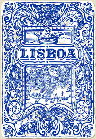 azulejos: Detailed Traditional Tiles Azulejos Lisboa Portugal