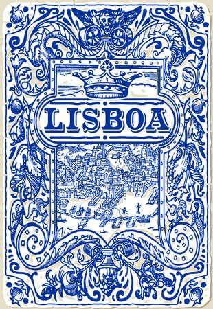 Detailed Traditional Tiles Azulejos Lisboa Portugal