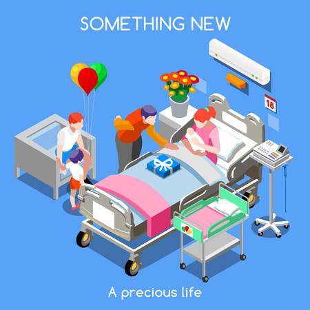 Gezondheidszorg Kindergeneeskunde Stock Illustratie