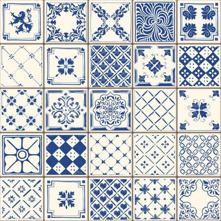 ceramiki: Indigo niebieskie płytki podłogowe Ozdoba Kolekcja