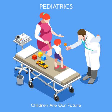 Maternity Ward Hospitalization Illustration