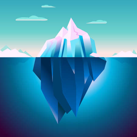 tip of iceberg: Quartz Iceberg Backdrop Serenity Lowpoly Dream Polar Lights Game Background