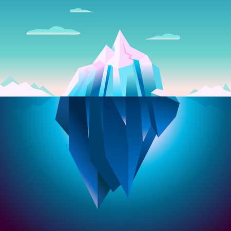 Quarzo Iceberg fondale luci polari Serenity lowpoly Dream gioco Sfondo Archivio Fotografico - 52842504
