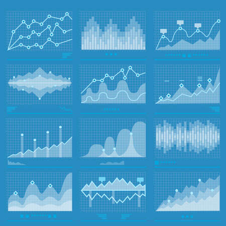 Business statistics and big data marketing analysis infographics banner background