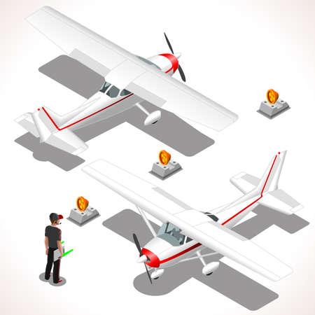 avion caricatura: Avión. avión ultraligero vectorial. planos isométricos 3D planas. Avión 172 objetos. Vehículos isométricos. elementos de Infografía