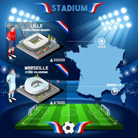 lille: France stadium infographic Stade de Lille and Marseille. France stadium Icon. France stadium Jpg Jpeg. France stadium illustration. France stadium drawing. France stadium vector Eps object.