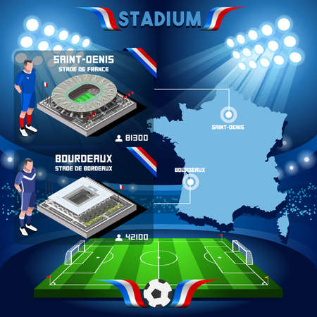 bordeaux: France stadium infographic Saint Denis Stade de France and Bordeaux. France stadium Icon. France stadium Jpg. France stadium illustration. France stadium drawing. France stadium vector Eps object. Illustration