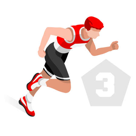 sequential: Triathlon Summer Games Icon Set.3D Isometric Athlete Triathlete.Modern Triathlon Running Swimming Road Cycling Sporting Competition.Sport Infographic Triathlon Vector Image Illustration